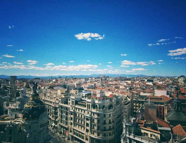 Photograph of Madrid skyline